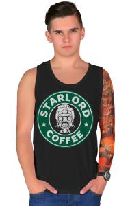 Футболка Звездный Лорд кафе   StarLord Coffee