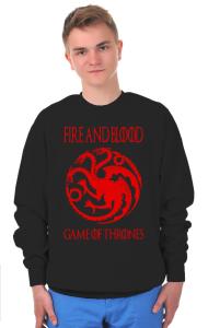 Свитшот Огонь и Кровь | Fire and Blood