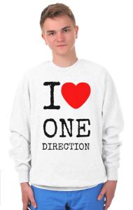 Свитшот Я Люблю Ван Дирекшн | I Love One Direction