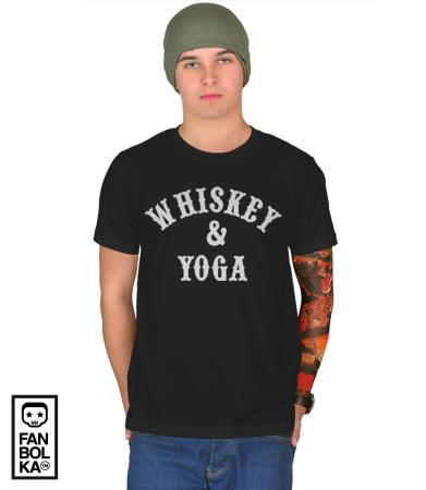Футболка Йога и Виски | Whiskey & Yoga