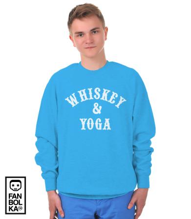 Свитшот Йога и Виски   Whiskey & Yoga