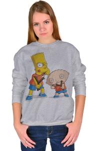 Свитшот Стьюи и Барт | Stewie & Bart