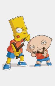 Постер Стьюи и Барт | Stewie & Bart