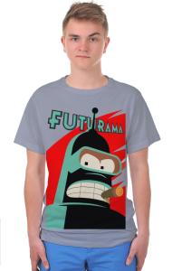 Футболка Робот Бендер Футурама   Bender Futurama