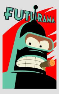 Постер Робот Бендер Футурама | Bender Futurama