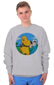 Свитшот Чубакка и Хан Соло | Adventure Time