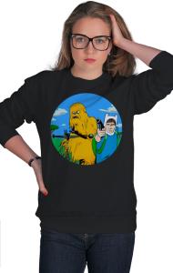 Свитшот Чубакка и Хан Соло   Adventure Time