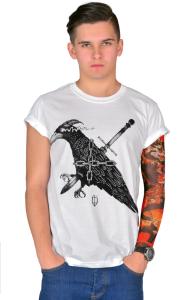 Футболка Ворон. Цепь. Кинжал |Raven. Chain. Dagger