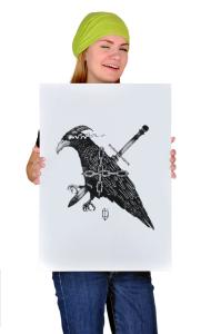 Постер Ворон. Цепь. Кинжал  Raven. Chain. Dagger