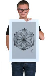 Постер Мандала. Дотворк | Geometric. Mandala. Dotwork