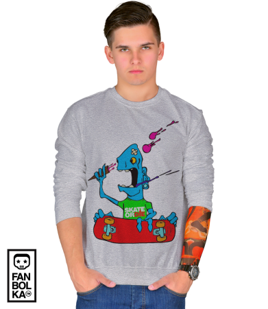 Свитшот  Скейт или смерть | Skate Or Die cartoon