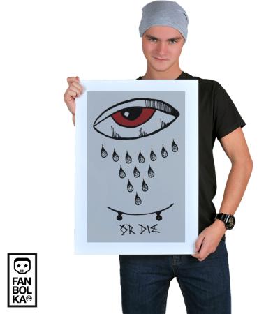 Постер Cкейт Дотворк | Skate Dotwork