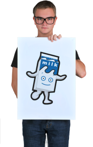 Постер Блюр молоко | Blur milk box