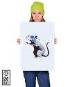 Плакат Крыса Бэнкси