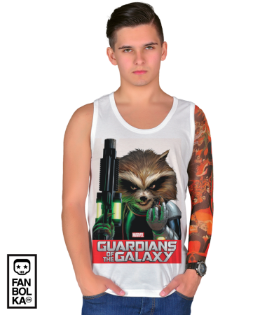 Футболка Стражи Галактики. Ракета Енот | Rocket Raccoon