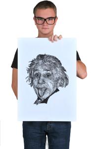 Постер Альберт Эйнштейн Арт|  Albert Einstein Art