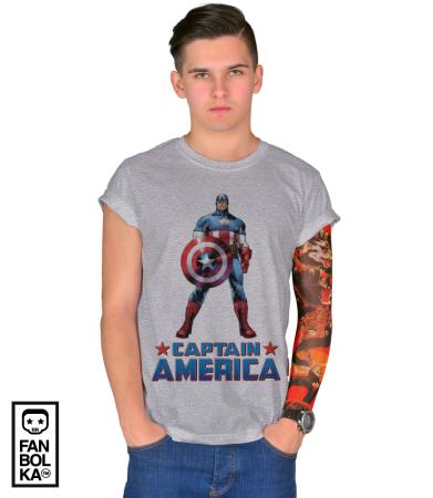 Футболка Постер Капитан Америка   Captain America