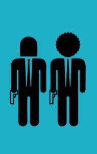 Постер Винсент Вега и Джулс. Криминальное Чтиво | Vincent Vega and Jules. Pulp Fiction