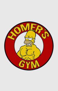 Постер Тренажерный зал Гомера | Homer's gym