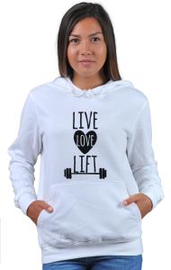 Худи Живи Люби Поднимай | Live Love Lift