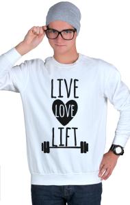 Свитшот Живи Люби Поднимай | Live Love Lift
