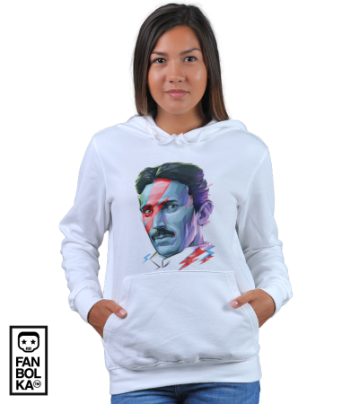 Худи Постер Никола Тесла. Боуи | Nikola Tesla. Bowie