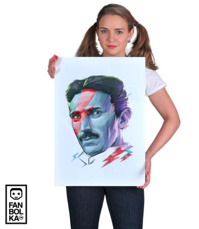 Постер Постер Никола Тесла. Боуи | Nikola Tesla. Bowie