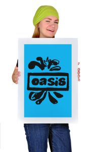 Постер Оазис лого | Oasis new logo