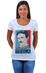 Футболка Тесла ОБЕЙ|Tesla OBEY