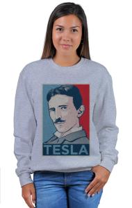 Свитшот Тесла ОБЕЙ|Tesla OBEY