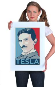 Постер Тесла ОБЕЙ|Tesla OBEY