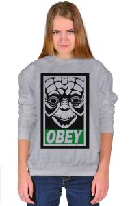 Свитшот Йода ОБЕЙ| Yoda OBEY