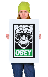 Постер Йода ОБЕЙ| Yoda OBEY