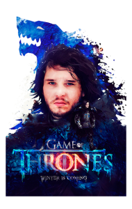 Постер Игра Престолов Джон Сноу |Game of Thrones Jon Snow