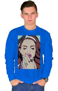 Свитшот Лана Дель Рей Поп-арт| Lana Dei Rey Pop Art