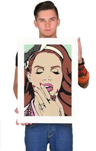 Постер Лана Дель Рей Поп-арт| Lana Dei Rey Pop Art