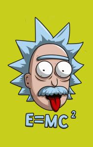 Постер Рик и Морти Эйнштейн | Rick and Morty Einstein
