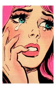 Постер Поп арт плачу и плачу́ | Pop art Cry