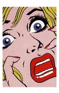 Постер Поп арт девушка и испуг |Pop art  girl and fear