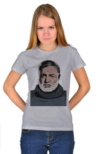 Футболка  Эрнест Хемингуэй| Ernest Hemingway