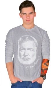 Свитшот Плакат Эрнест Xемингуэй | Ernest Hemingway