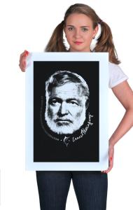 Постер Плакат Эрнест Xемингуэй | Ernest Hemingway