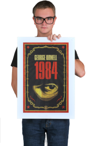Постер Оруэлл 1984   Orwell 1984
