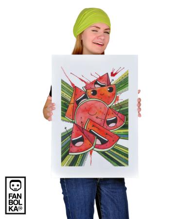 Постер Веселые арбузы    Funny watermelon