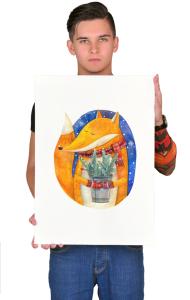 Постер Новогодняя Лиса | New year Fox