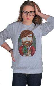 Свитшот Хипстер с елкой| Hipster with Christmas tree