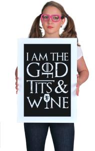 Постер Игра Престолов Я Бог | Game of Thrones I am God
