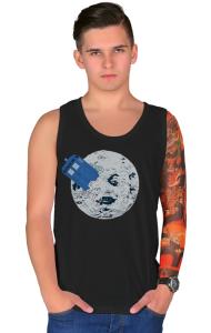 Футболка ТАРДИС на Луне | TARDIS in Moon