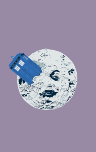 Постер ТАРДИС на Луне | TARDIS in Moon