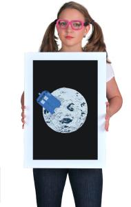 Постер ТАРДИС на Луне   TARDIS in Moon